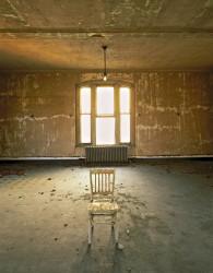 E51 Measles ward, lone chair
