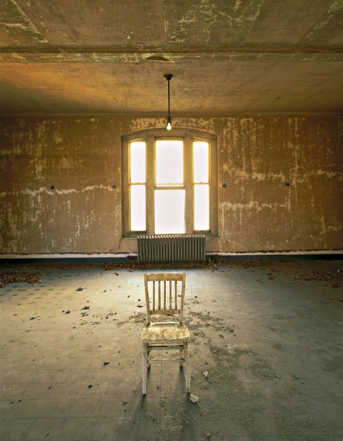 E51 Measles ward, lone chair - Stephen WILKES