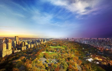 Central Park view from Essex House, NYC