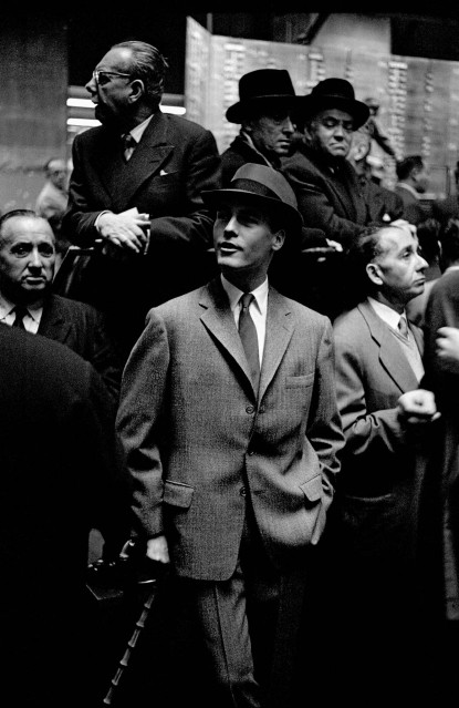 Male Fashion at the Stock Exchange, 1958 - Frank HORVAT