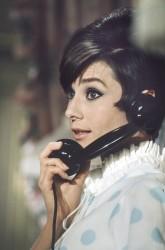 Audrey Hepburn, phone, 1966