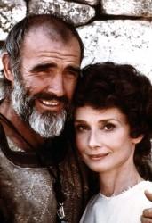 Audrey Hepburn et Sean Connery, 1976