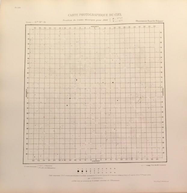 Carte photographique du ciel, 1900 - Deep Space