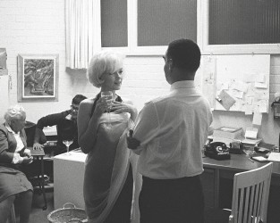 Marilyn Monroe and journalist Jack Hamilton, 1961