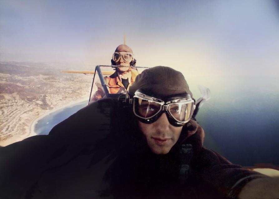 Douglas flying self portrait, 1975 - Douglas KIRKLAND