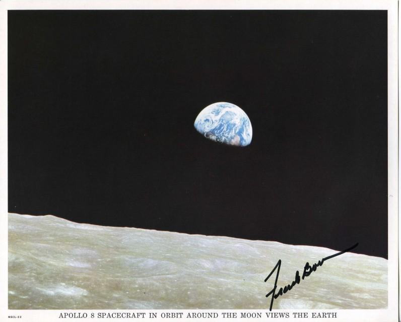 Apollo 8, Earthrise (Earth View MSCL-22) - NASA