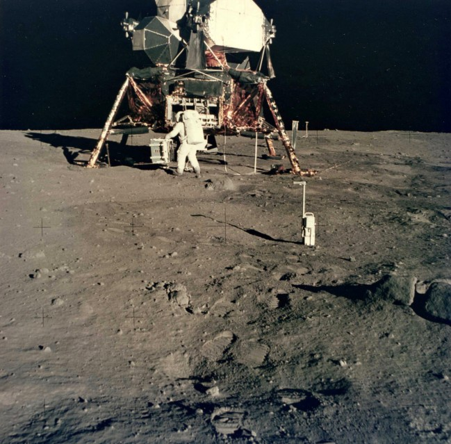 Apollo 11, Buzz Aldrin & Lunar Module  (AS11-40-5931) - NASA