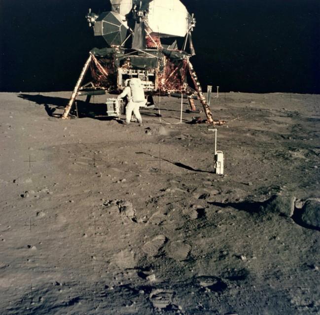 Apollo 11, Buzz Aldrin & module lunaire (AS11-40-5931) - NASA