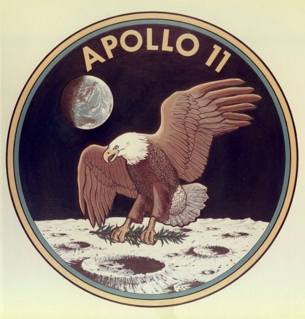 Apollo 11, Official logo of the mission (S-69-34875) - NASA