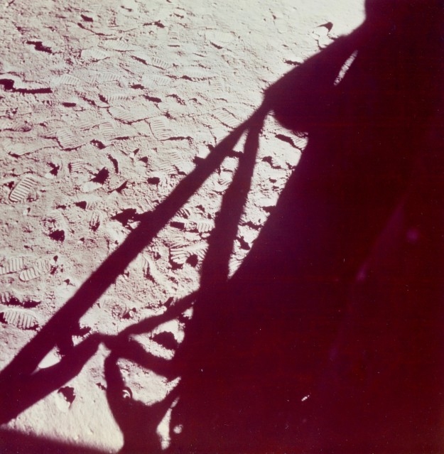 Apollo 11, Lunar Module Shadow  (AS11- 39- 5800) - NASA