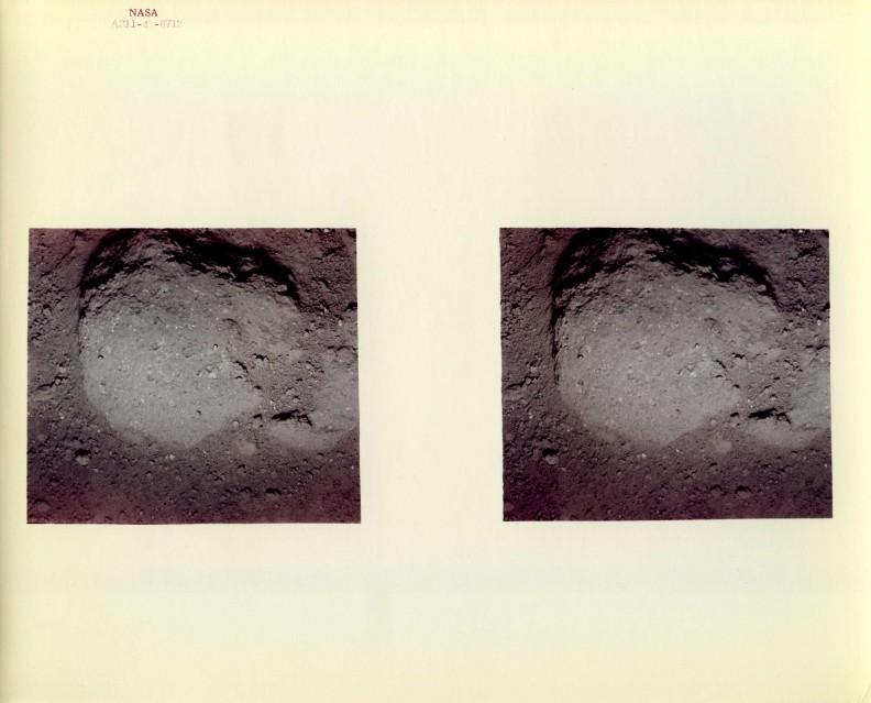Apollo 11, Lunar surface stereo close-up (AS11-45-6712) - NASA