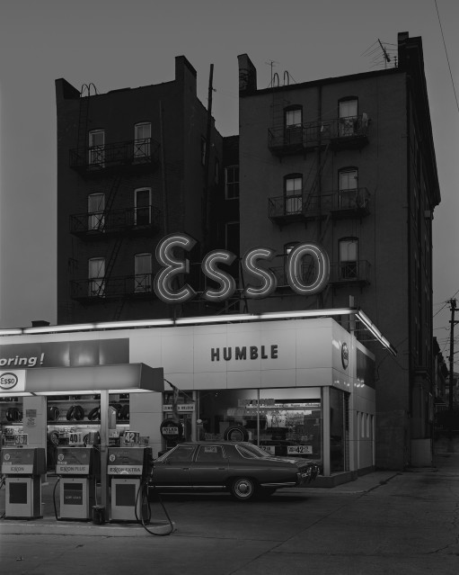 Esso Station and Tenement House, 1972 - George TICE