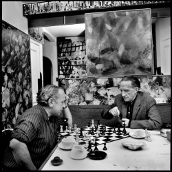 Xanti Schawinsky and Duchamp, New York 1961
