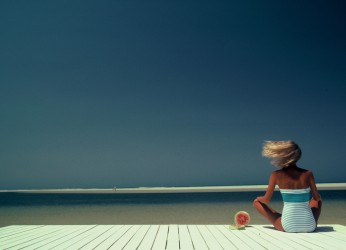 La Tunisie du Cœur - Femme sur la plage