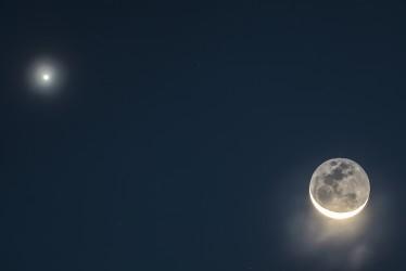 Vénus regarde la Lune - Venus looks at the moon