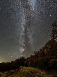 Jupiter, Saturne et la Voie lactée