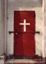 White Cross Red Door