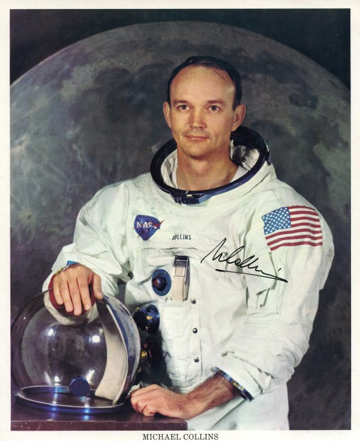 Apollo 11, Michael Collins, Official Portrait in Space Suit - NASA