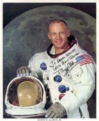 Apollo 11, Buzz Aldrin, Official Portrait in Space Suit