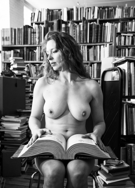 Bianca (with book on her knees) - Florin FIRIMITA