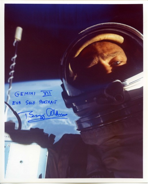 Gemini 12, Buzz Aldrin Self portrait (non-NASA) - NASA