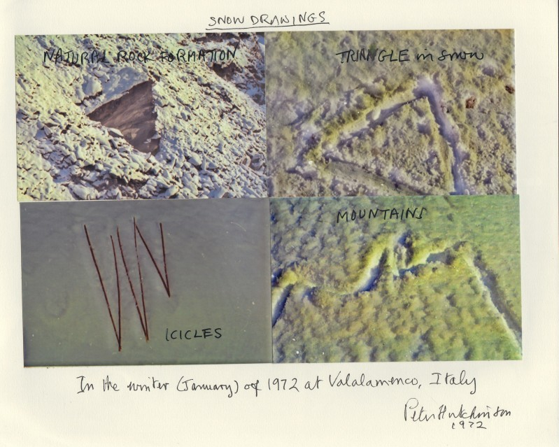 Snow Drawings, 1972 - Peter HUTCHINSON