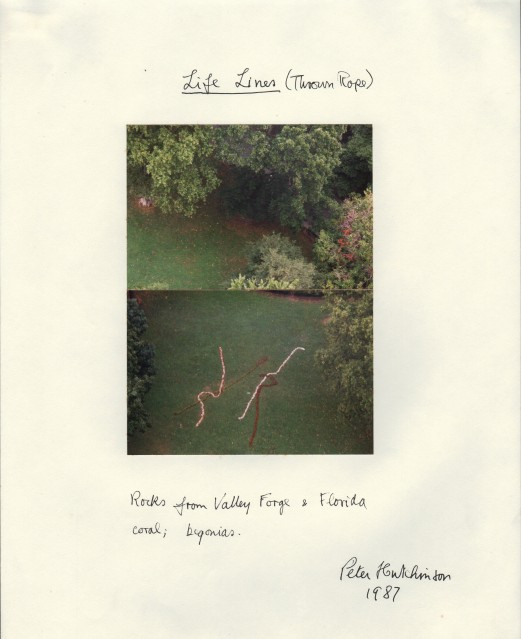 Life Lines (Thrown Rope), 1987 - Peter HUTCHINSON