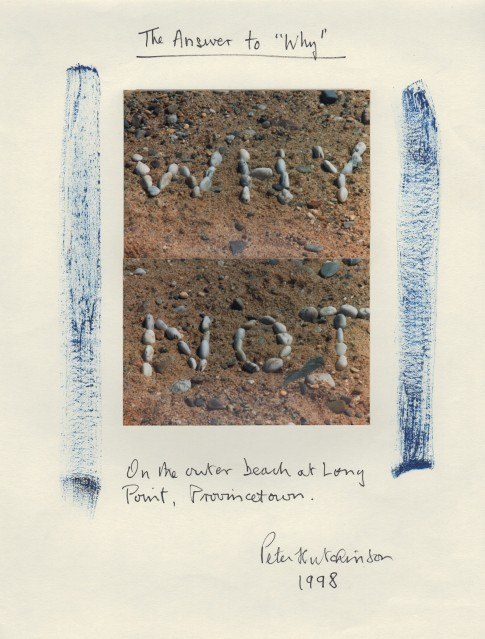 "The Answer to ""Why"", 1998 - Peter HUTCHINSON"