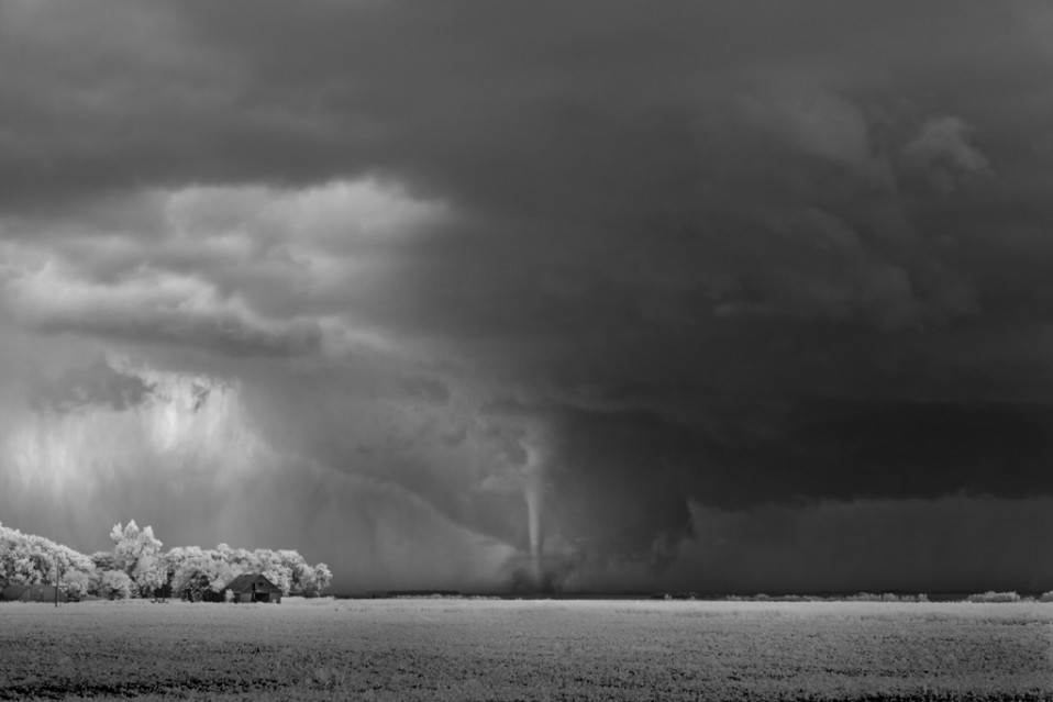 Barn and Tornado - Mitch DOBROWNER
