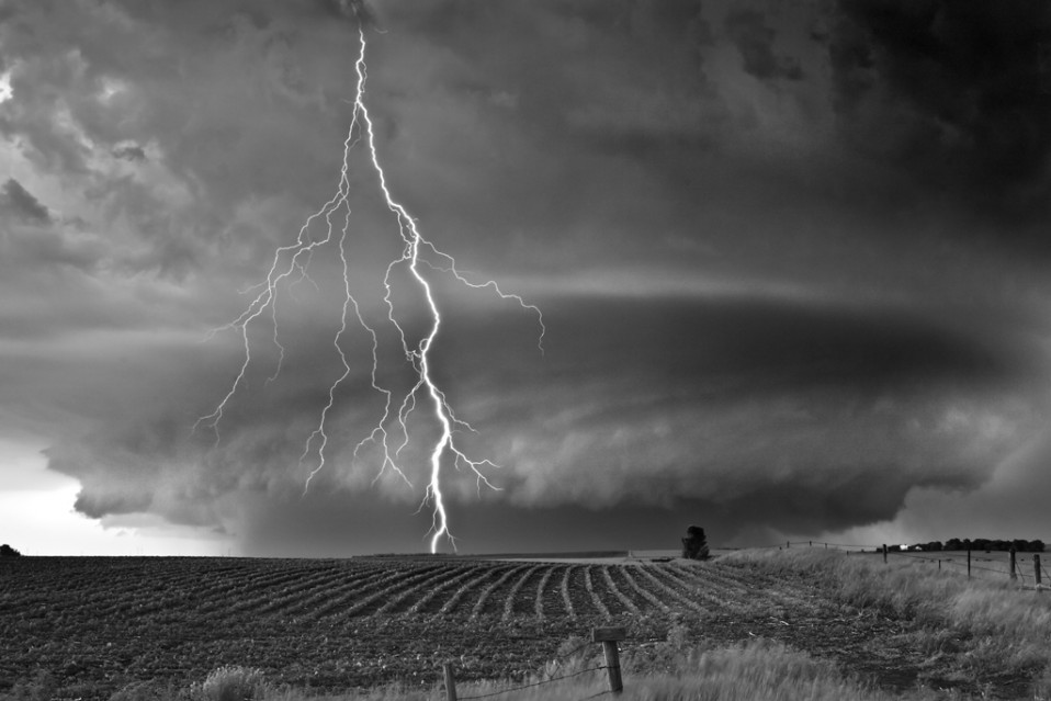 Supercell over Field - Mitch DOBROWNER
