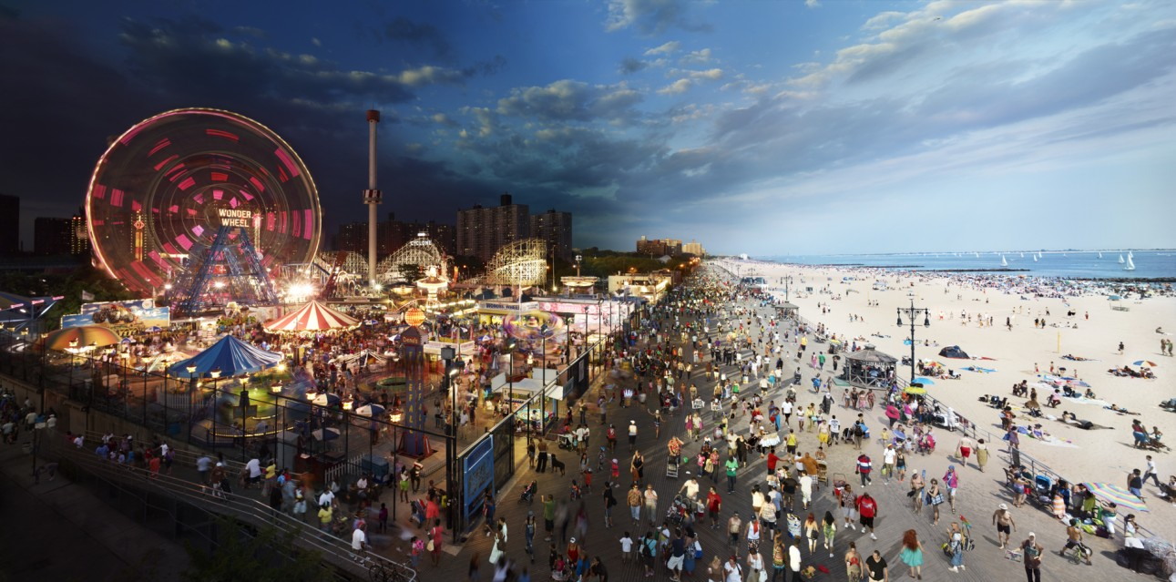 Coney Island Boardwalk, NY - Stephen WILKES