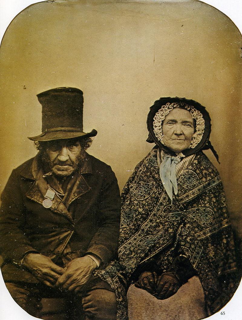 Ambrotype d'un vétéran et sa femme, 1860.