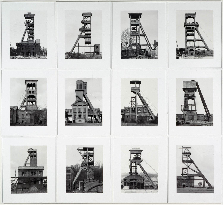 Bernd et Hilla BECHER, Tours d'extraction, 1970-1988.
