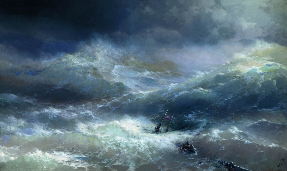 Ivan AÏVAZOVSKY, Parmi les vagues, 1898