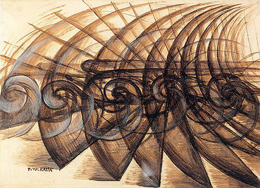 Giacomo BALLA, Speed of a Motorcycle, 1913