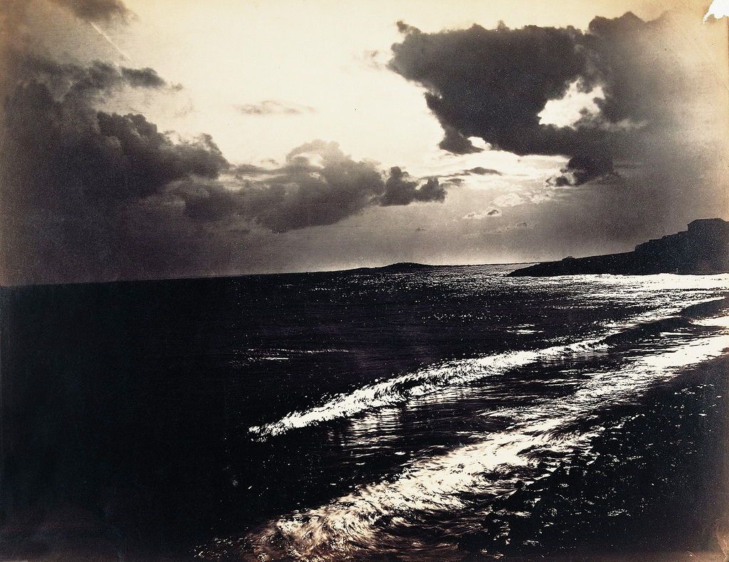 Gustave LE GRAY, La grande vague, Sète, 1857