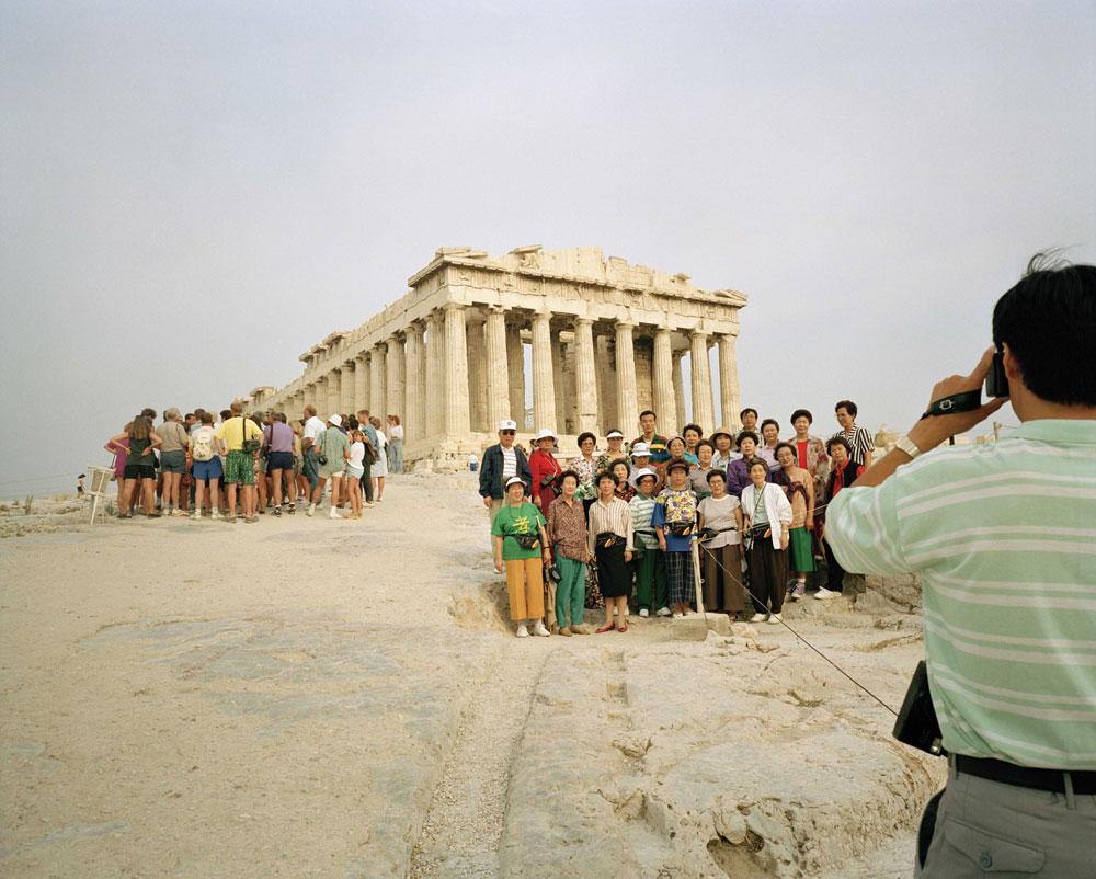Martin Parr, Small World Greece, Athens, Acropolis, 1991
