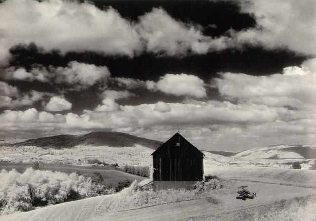 Minor White, Barnd and Clouds, 1955