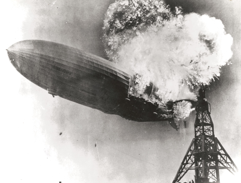 Murray BECKER, LZ 129 Hindenburg On Fire, 1937