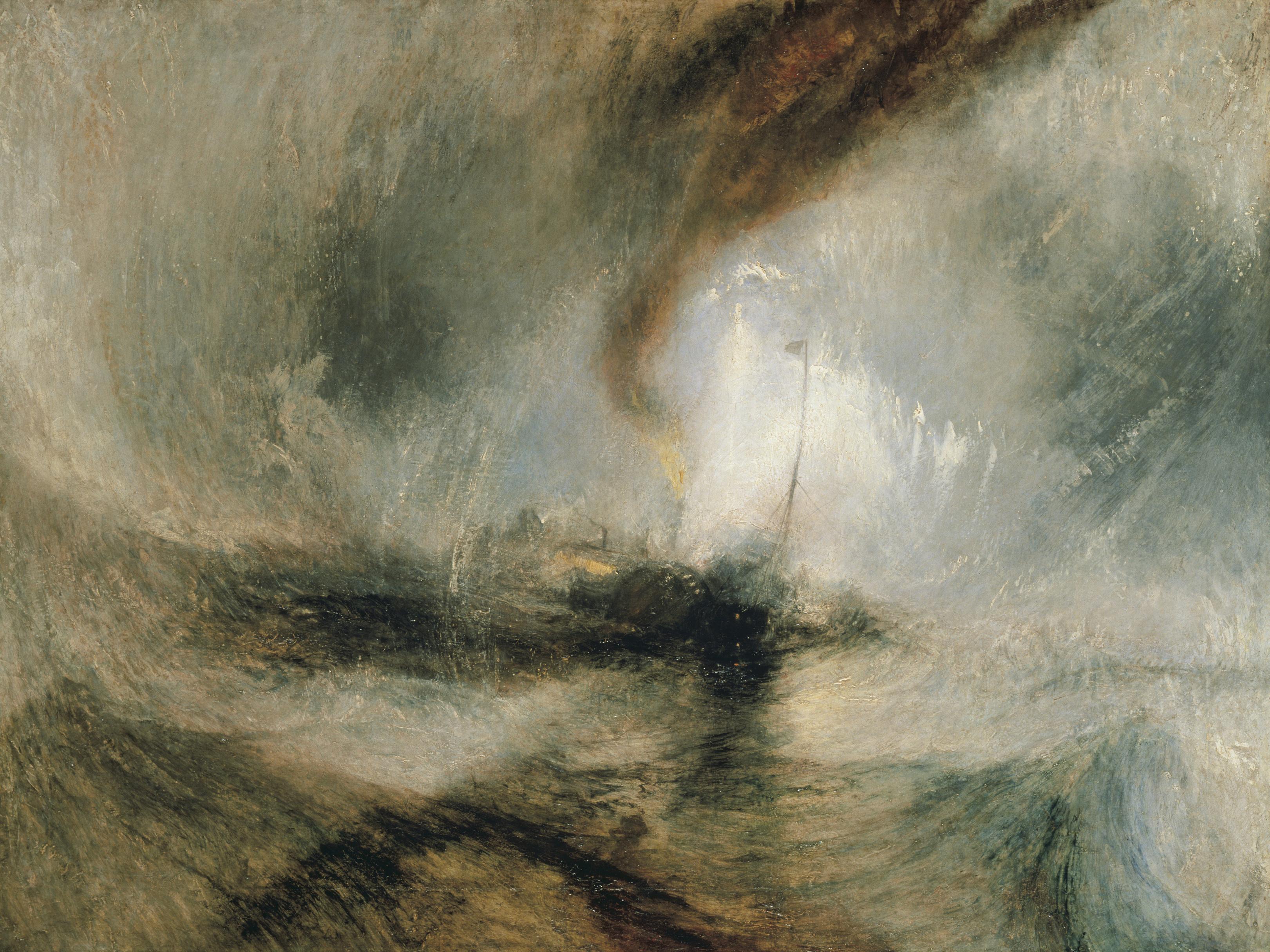William TURNER, Tempête de neige en mer, 1842