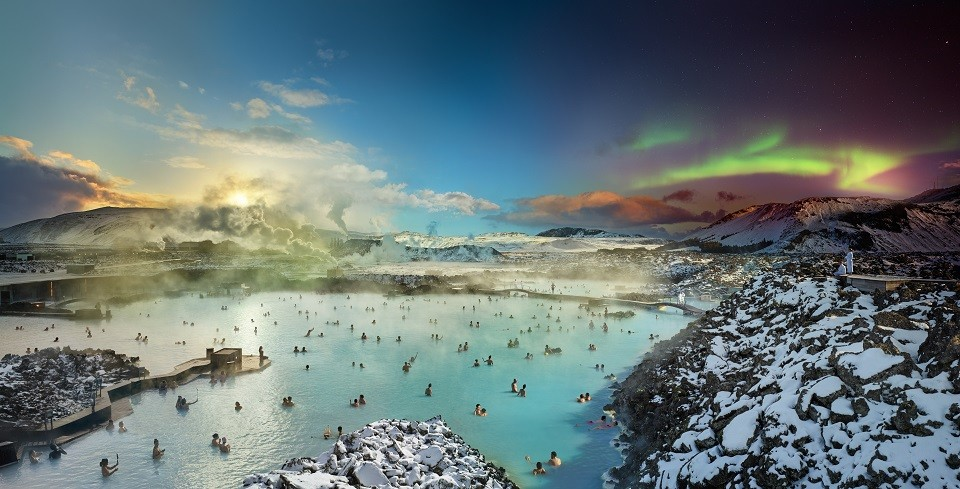 Blue Lagoon in Iceland photographed by Stephen Wilkes.