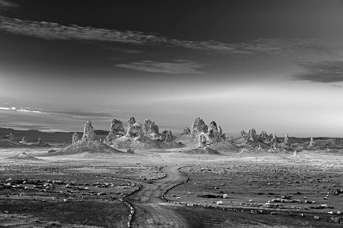 A desert landscape in USA by american photographer Mitch Dobrowner