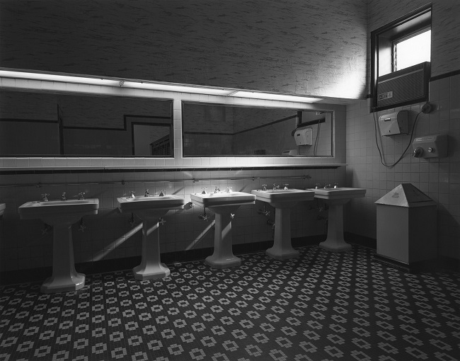 Photo of the men's room by George Tice in 1975.