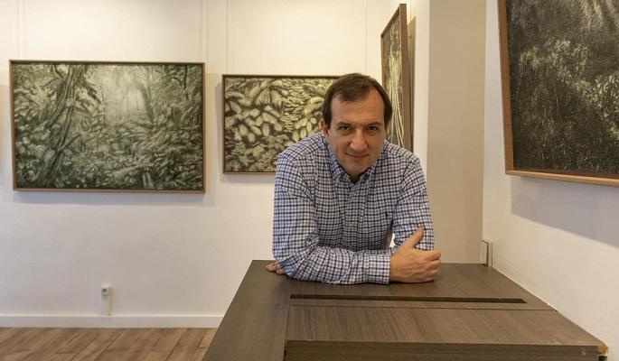 Galerie de photographie à Paris avec Gad Edery, lors de l'exposition Cassio Vasconcellos.
