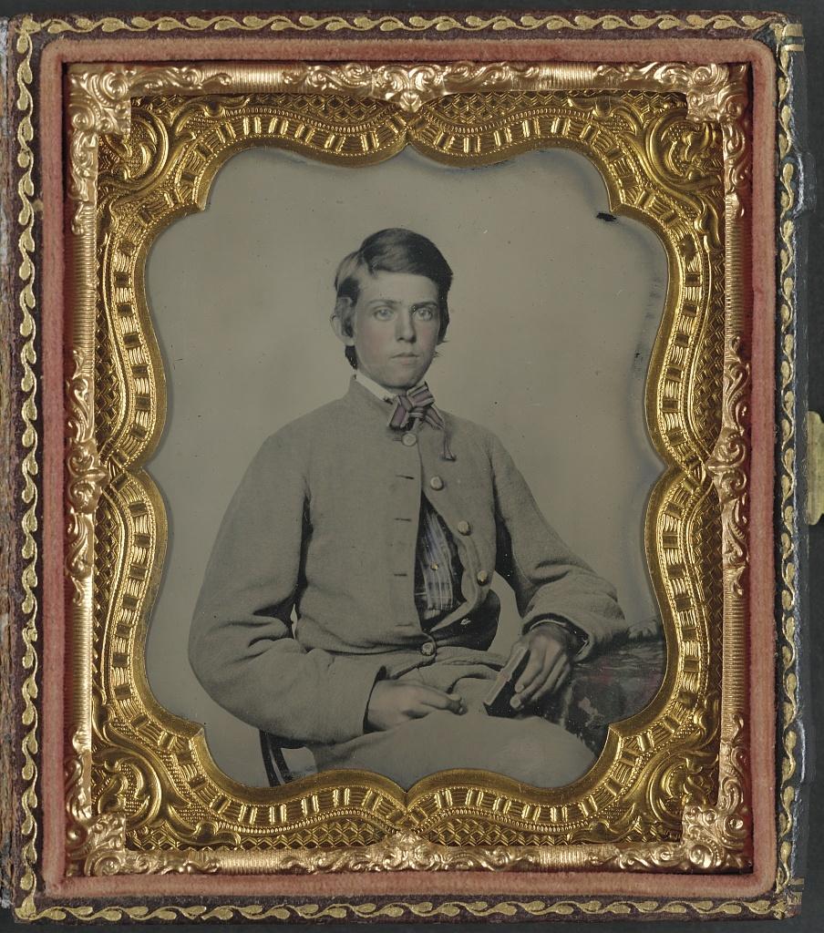 Portrait de jeune soldat, ambrotype
